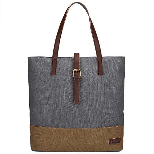 b230c549b6 S-ZONE Women s Canvas Bag Lightweight Shoulder Bag Ladies Handbag Shopping  Purse