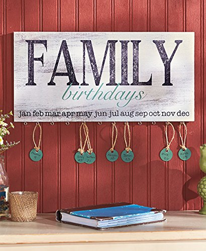 The Lakeside Collection Family Birthday Plaque