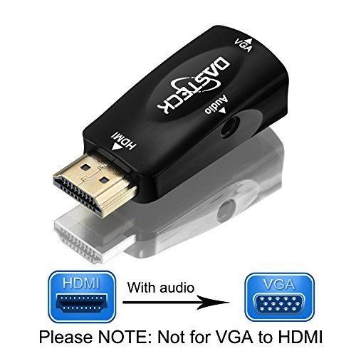 Dasteck® 1080p HDMI Male to VGA Female Video Converter Adapter with 3.5 mm audio cable for PC, TV, Laptops, and Other HDMI Devices