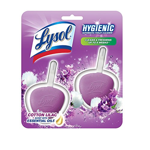Lysol Hygienic Automatic Toilet Bowl Cleaner Cotton Lilac 2ct