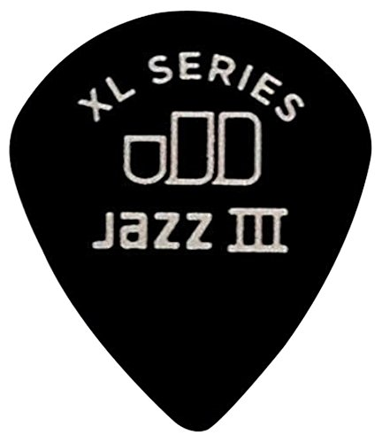 Dunlop 498P1.35 Tortex Jazz III XL, Black, 1.35mm, 12/Player's Pack