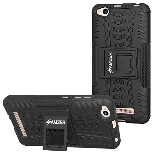 AMZER Hybrid Warrior Dual Layer Slim Protective Shockproof Case for Xiaomi Redmi 4a – Black