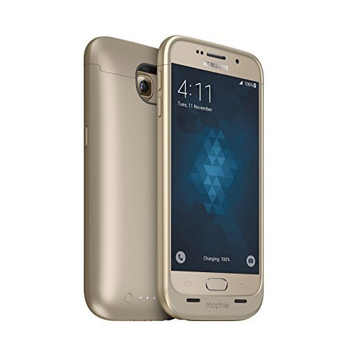Mophie Juice Pack Battery Case for Galaxy S6 Gold Certified Refurbished