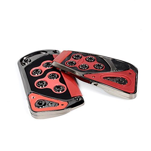 Anzio SET Universal RED Car Automatic Transmission Racing Sport Gas Brake Pedal Cover Pad
