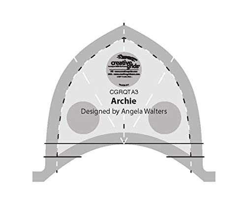 Archie CGRQTA3 – Creative Grids Machine Quilting Tool Ruler Template