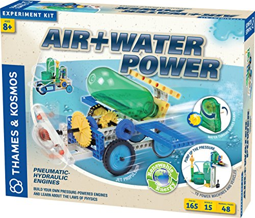 Thames & Kosmos Air + Water Power | Build 15 Pneumatic & Hydraulic Models | Powered by Air + Water | 48 Page Full Color Experiment Manual | Science & Engineering Kit