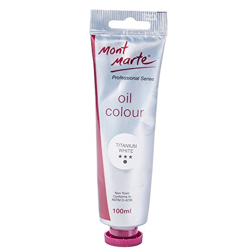 Mont Marte Oil Paint 100mls – Titanium White