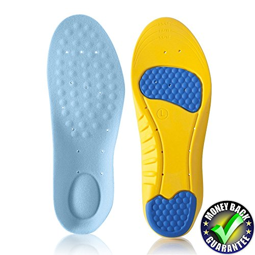 Dr.Koyama Arch Support Insoles for Flat Feet, Low Arch Pain Relief, Plantar Fasciitis, Shock Absorption Running Shoe Inserts US Men 8-12 Women 10-14