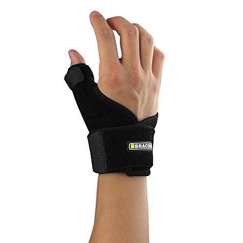 Bracoo Thumb & Wrist Brace, Spica, CMC Splint for Arthritis, De Quervain's, Carpal Tunnel Pain Relief, Reversible, Black, TP30, 1 Count