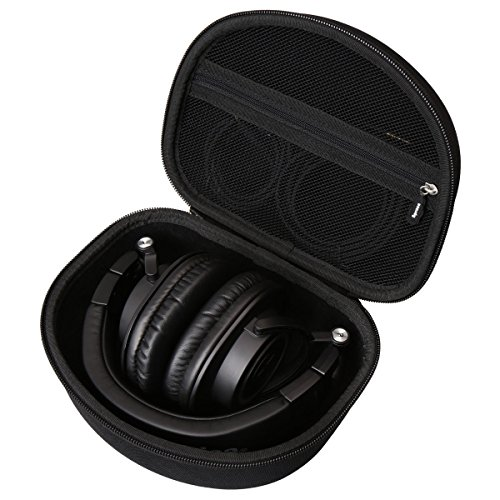 Hard Carry Travel Bag Case Compatible Audio-Technica ATH-M50x Professional Monitor Headphones ATH-M50xMG ATH-M40x ATH-M30x ATH-M70x by Aproca Black
