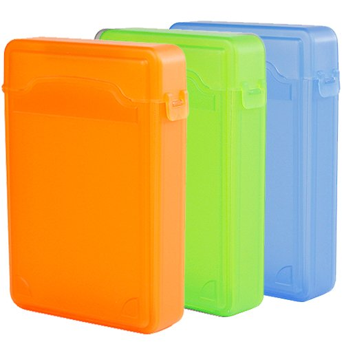 iKross 3 Colors Package – Orange,Green and Blue – 3.5 Inch IDE/SATA HDD Storage Protection Boxes