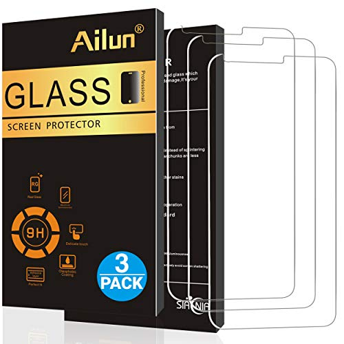 AILUN Screen Protector for LG G6 3 Pack,Tempered Glass,9H Hardness,2.5D Edge,Ultra Clear Transparency,Anti-Scratches,Case Friendly-Siania Retail Package