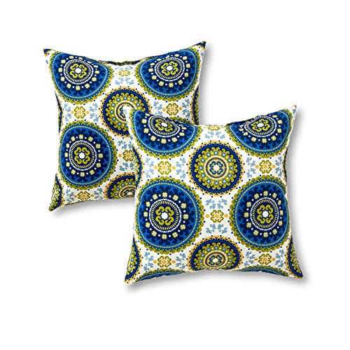 Greendale Home Fashions 17 in. Outdoor Accent Pillow set of 2, Summer