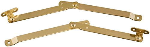 Stanley National Hardware S801-535 432 Folding Lid Support in Brass , 2 piece