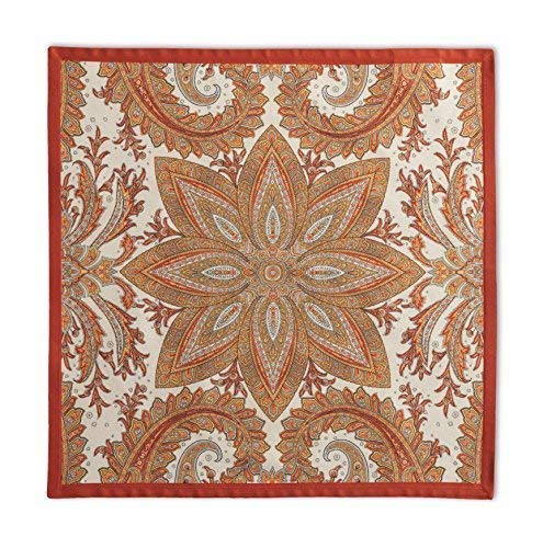 Maison d' Hermine Kashmir Paisley 100% Cotton Set of 4 Napkins 20 Inch by 20 Inch.