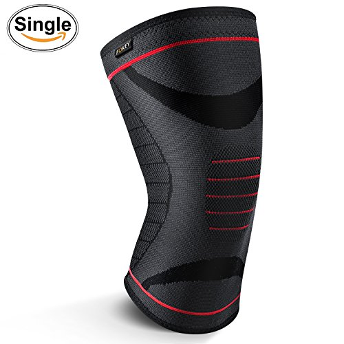 FOKEY Knee Brace, Knee Sleeve : Compression Support Protector Wrap Fit for Sports, Running, Jogging, Arthritis, ACL, Meniscus Tear, Joint Pain Relief and Injury Recovery Single – M