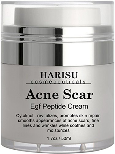 Helps Get Rid of Acne Scars while Hydrating & Regenerating Skin – Harisu Cosmeceutical's EGF Wonder Cream,1.7 oz