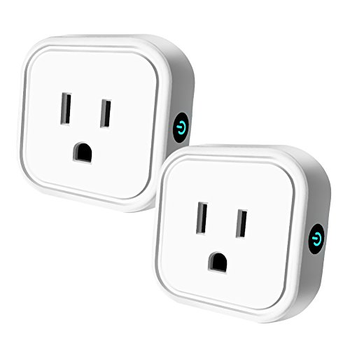 Wifi Smart Plug Mini Outlet Compatible with Alexa & Google Home, HEYGO Wireless Timer Socket, Remote Control By Smart Phone from Anywhere 2 Pack