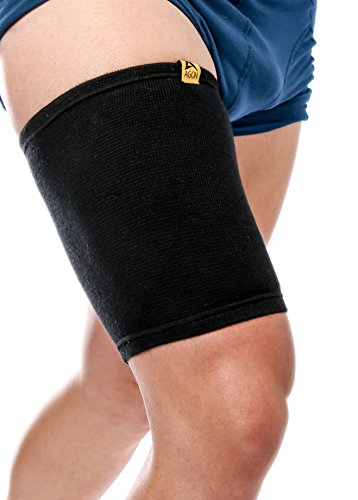 Agon Thigh Compression Sleeve Brace Support Compression Recovery Thighs Wrap Pain Relief for Sore Hamstring Groin Quad Sweat Men & Women Hip Injury Thigh Compressions Trimmer Active Sports X-Large