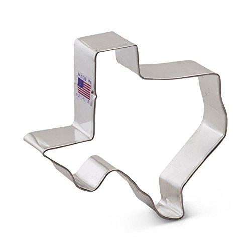 Tin Plated Steel – Ann Clark Texas Cookie Cutter – 4.75 Inches