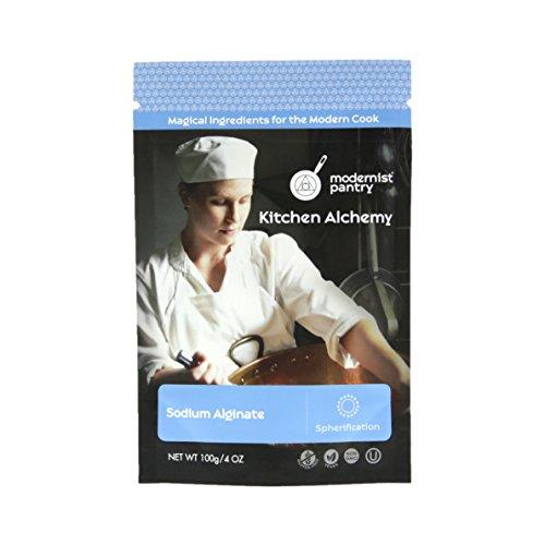 Pure Sodium Alginate Molecular Gastronomy ⊘ Non-GMO ☮ Vegan ✡ OU Kosher Certified- 100g/4oz