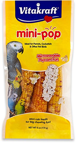 Microwavable Mini Corn Cob Treats For All Pet Birds, 6.0 Ounce Bag – Vitakraft Mini Pop