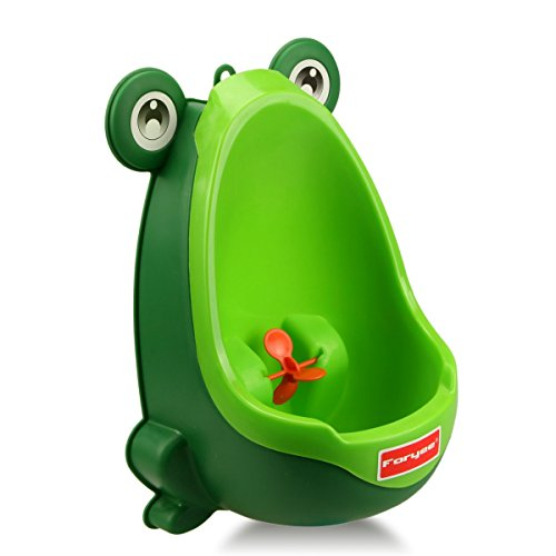 Blackish Green – Foryee Cute Frog Potty Training Urinal for Boys with Funny Aiming Target