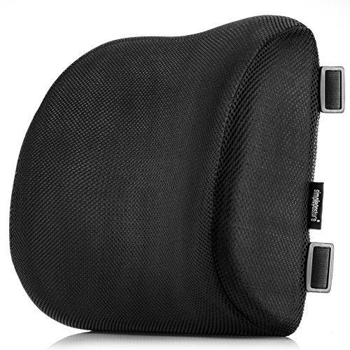 SimplePosture Lower Back Pain Cushion – Specially Designed for Maximum Lumbar Support and Back Pain Relief with Dual Extendable Straps and Anti-Skid Surface