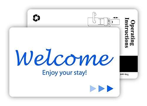 Hotel & Motel Magnetic Stripe Key Cards 2500