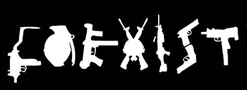 Top 9 Coexist Gun Sticker – Bumper Stickers, Decals & Magnets