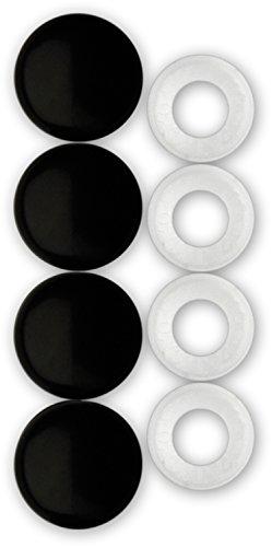 Top 9 Black License Plate Frame Fastener Caps – License Plate Fasteners
