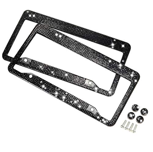 Top 10 Black Rhinestone License Plate Frame 2 Pack – License Plate Frames